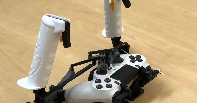 Charming DIY project adds 3D-printed joysticks and triggers to a PS4 controller